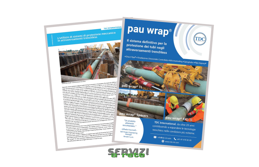TDC publishes in Servizi A Rete, an Italian pipeline industry magazine
