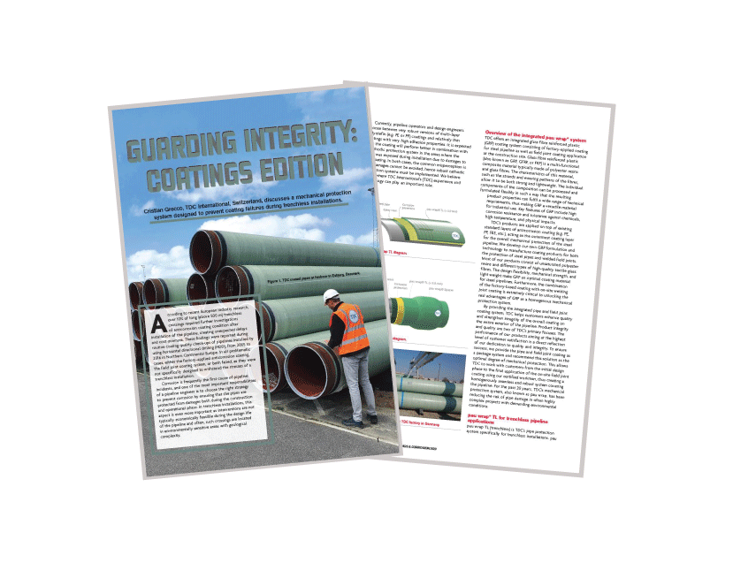 TDC publishes in latest World Pipelines Coating & Corrosion issue